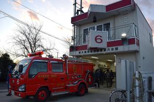 東久留米消防署と東久留米市消防団詰所で「長(ちょ~)っと散歩」の番組収録が行われました